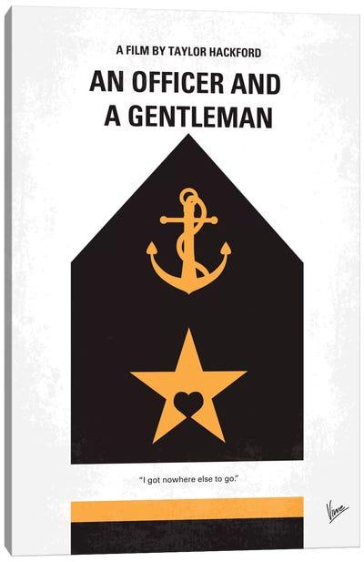 An Officer And A Gentleman Minimal Movie Poster Canvas Print #CKG396