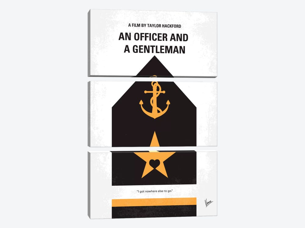 An Officer And A Gentleman Minimal Movie Poster by Chungkong 3-piece Canvas Art