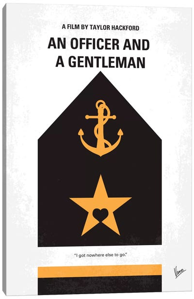 An Officer And A Gentleman Minimal Movie Poster Canvas Art Print