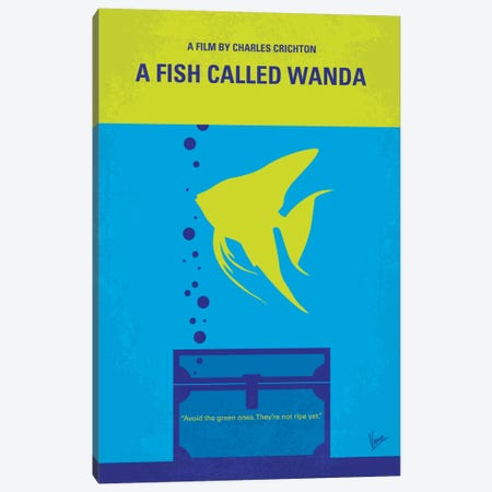 A Fish Called Wanda Minimal Movie Poster Canvas Print #CKG397} by Chungkong Canvas Wall Art