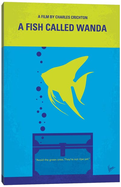 A Fish Called Wanda Minimal Movie Poster Canvas Art Print
