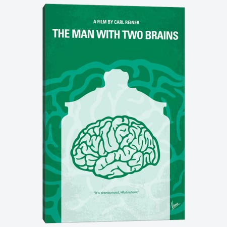 The Man With Two Brains Minimal Movie Poster Canvas Print #CKG398} by Chungkong Canvas Art Print