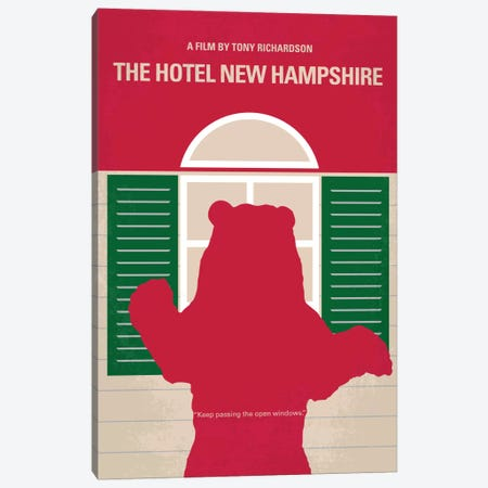 The Hotel New Hampshire Minimal Movie Poster Canvas Print #CKG3} by Chungkong Art Print