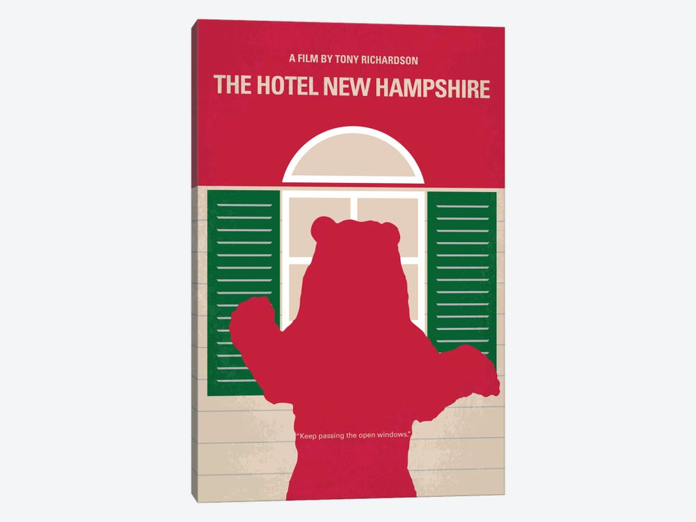 The Hotel New Hampshire Minimal Movie Poster by Chungkong 1-piece Canvas Wall Art
