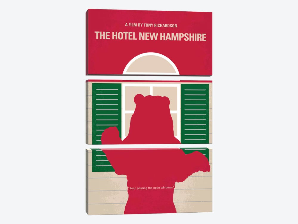 The Hotel New Hampshire Minimal Movie Poster by Chungkong 3-piece Canvas Wall Art