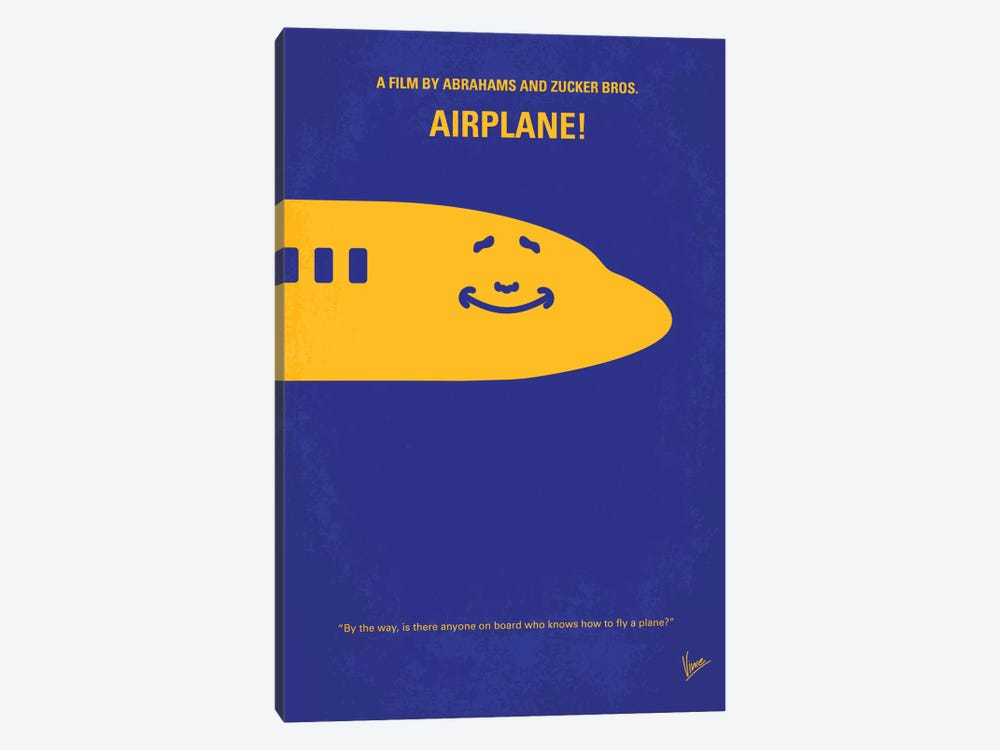 Airplane! Minimal Movie Poster by Chungkong 1-piece Canvas Art