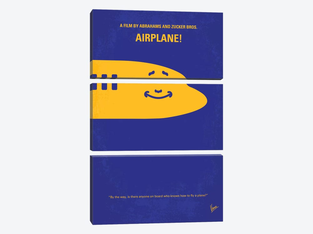 Airplane! Minimal Movie Poster by Chungkong 3-piece Canvas Artwork
