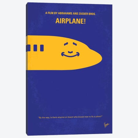 Airplane! Minimal Movie Poster Canvas Print #CKG400} by Chungkong Canvas Art Print
