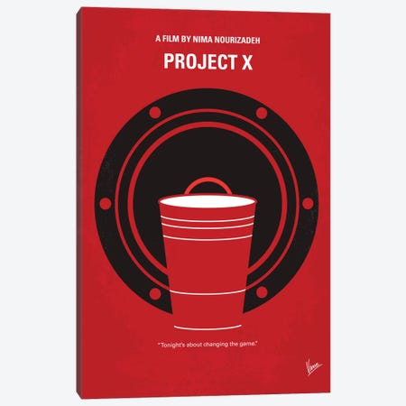 Project X Minimal Movie Poster Canvas Print #CKG401} by Chungkong Canvas Print