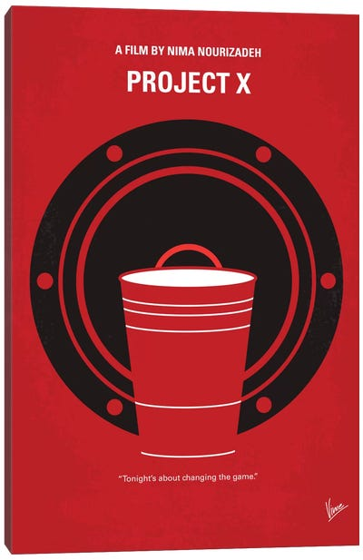 Project X Minimal Movie Poster Canvas Print #CKG401