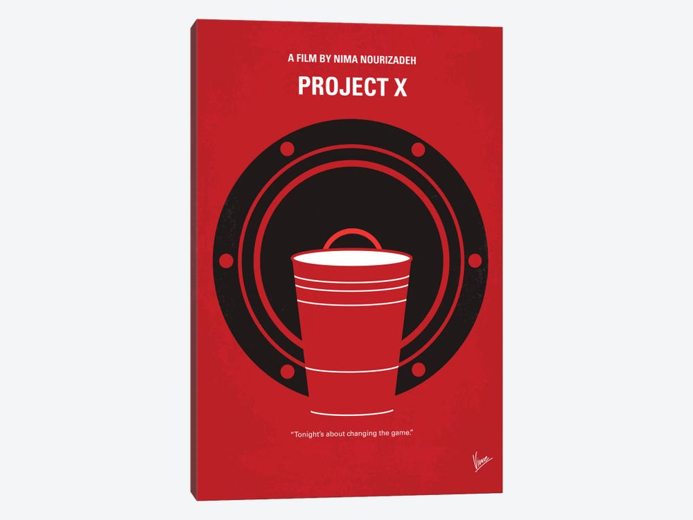 Project X Minimal Movie Poster by Chungkong 1-piece Art Print