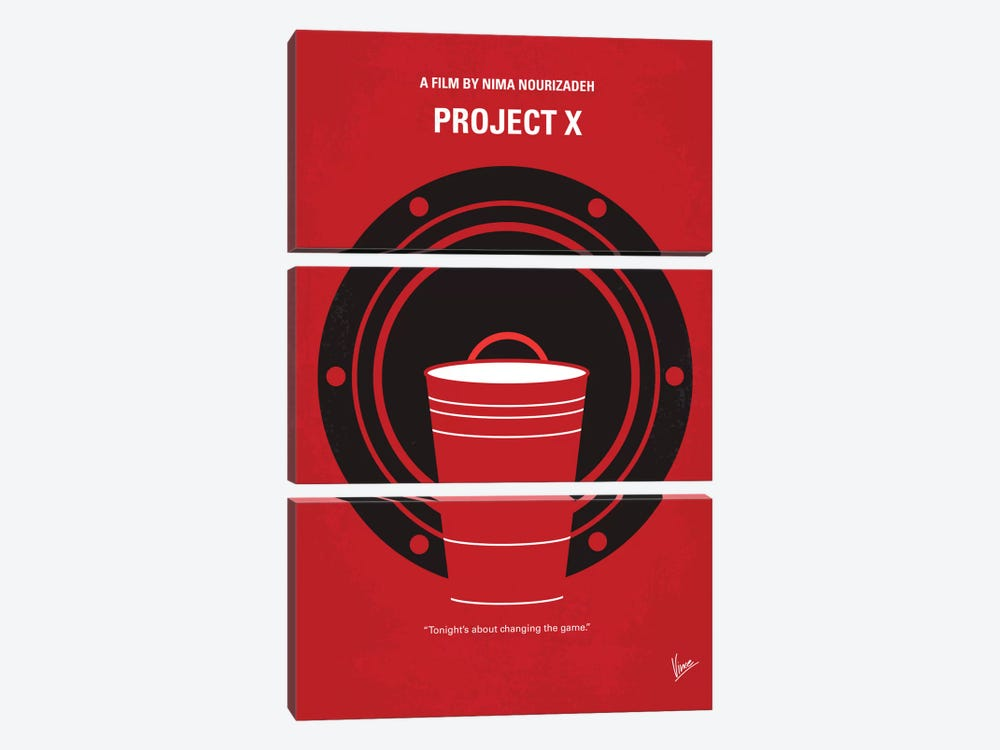 Project X Minimal Movie Poster by Chungkong 3-piece Art Print