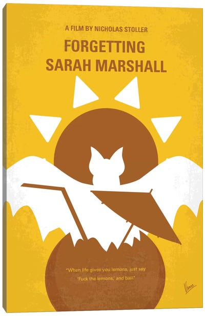 Forgetting Sarah Marshall Minimal Movie Poster Canvas Art Print