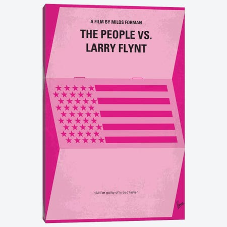 The People vs. Larry Flynt Minimal Movie Poster Canvas Print #CKG403} by Chungkong Canvas Print