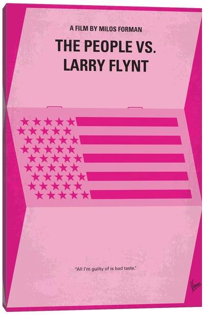 The People vs. Larry Flynt Minimal Movie Poster Canvas Print #CKG403