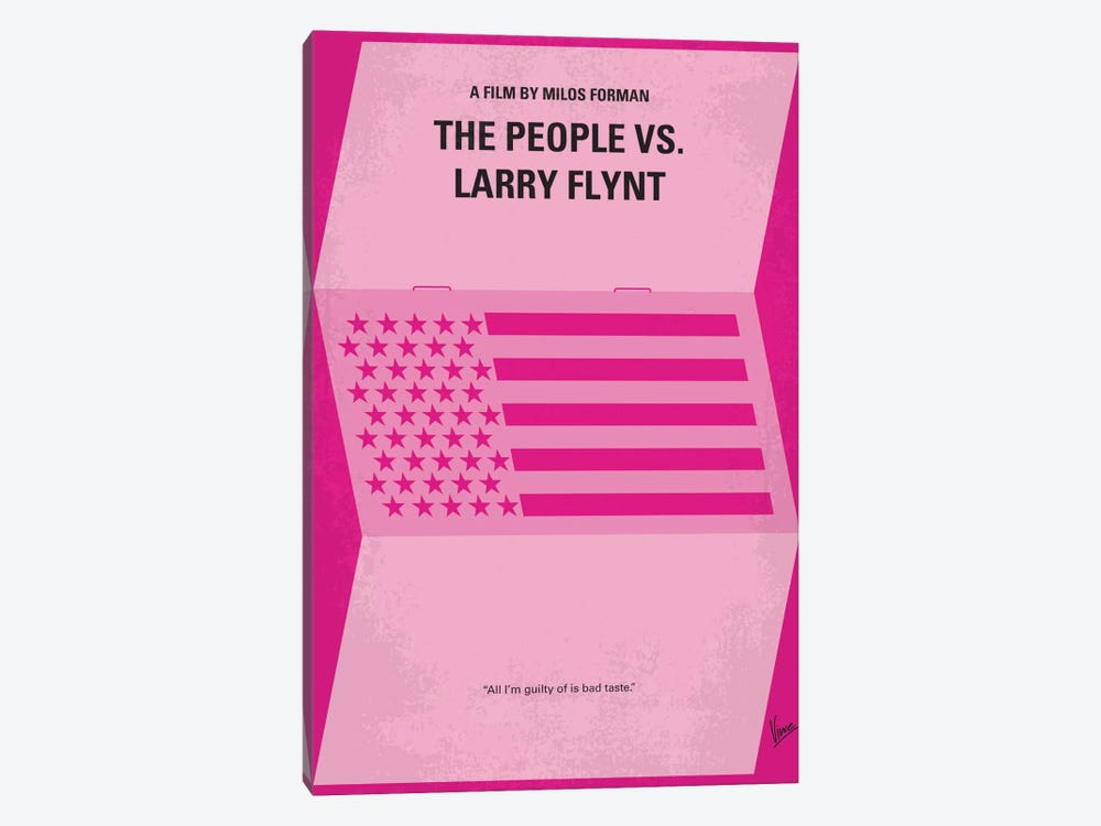 The People vs. Larry Flynt Minimal Movie Poster by Chungkong 1-piece Canvas Print