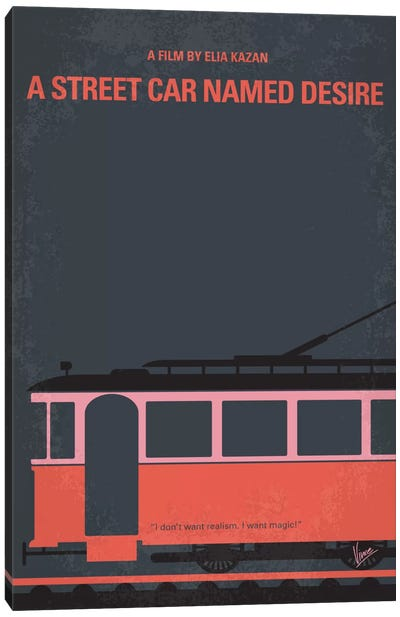 A Street Car Named Desire Minimal Movie Poster Canvas Print #CKG405