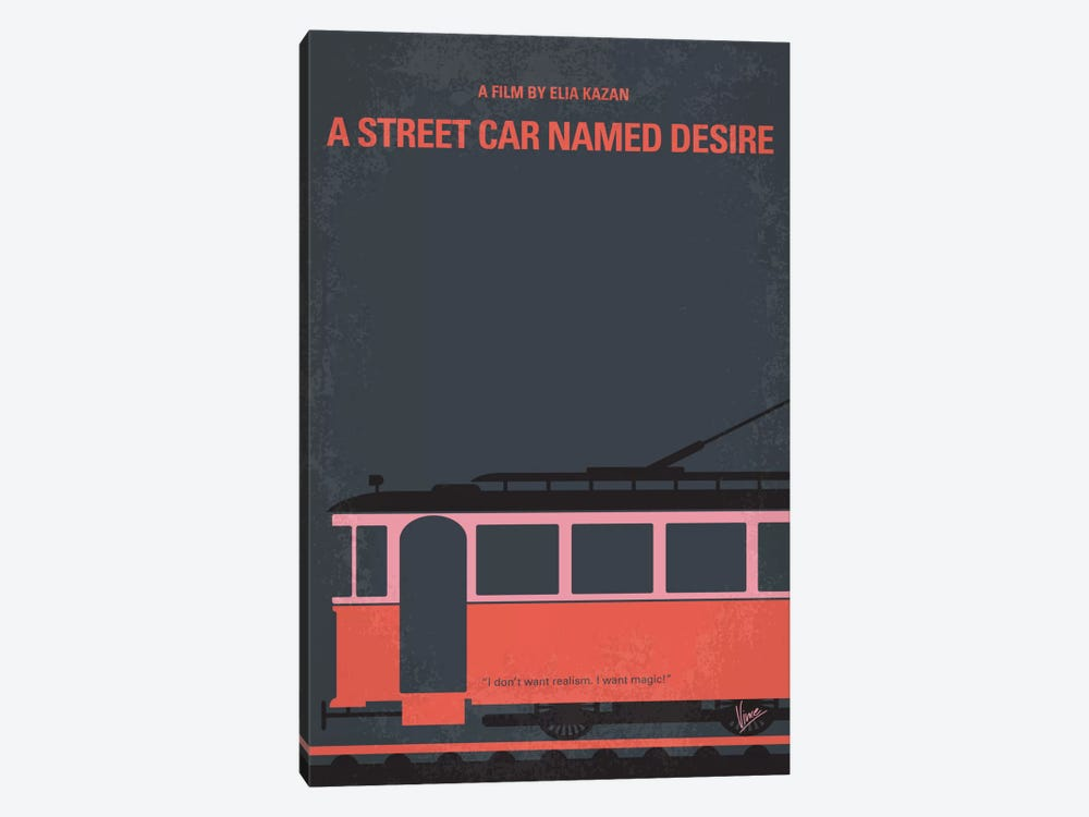 A Street Car Named Desire Minimal Movie Poster by Chungkong 1-piece Canvas Print