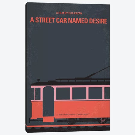 A Street Car Named Desire Minimal Movie Poster 3-Piece Canvas #CKG405} by Chungkong Canvas Art