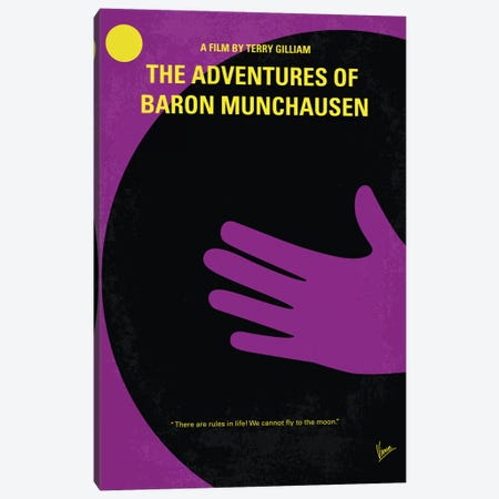 The Adventures Of Baron Munchausen Minimal Movie Poster Canvas Print #CKG407} by Chungkong Canvas Wall Art