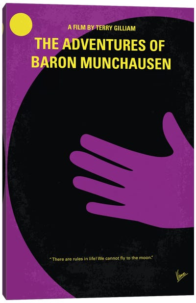 The Adventures Of Baron Munchausen Minimal Movie Poster Canvas Art Print