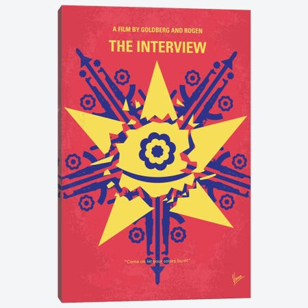 The Interview Minimal Movie Poster Canvas Print #CKG408} by Chungkong Canvas Art Print