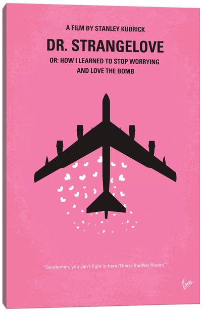 Dr. Strangelove Minimal Movie Poster Canvas Art Print