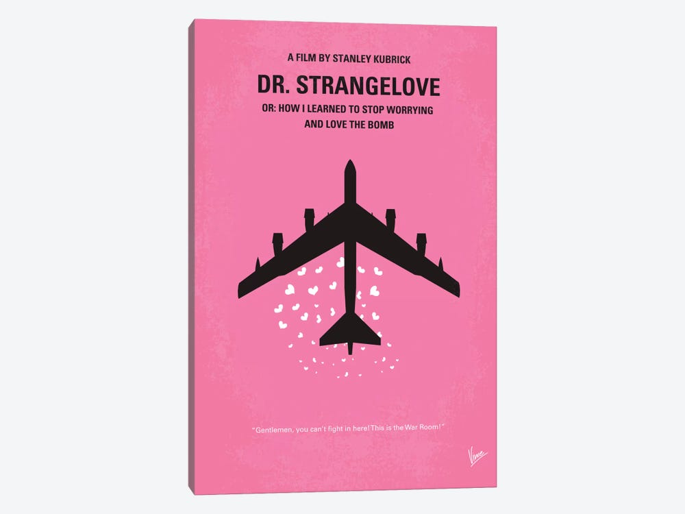 Dr. Strangelove Minimal Movie Poster by Chungkong 1-piece Canvas Print