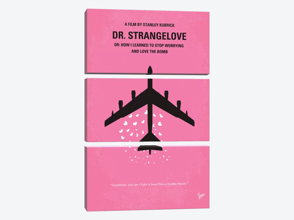 Dr. Strangelove Minimal Movie Poster by Chungkong 3-piece Canvas Print