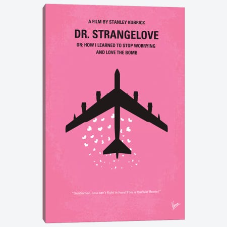 Dr. Strangelove Minimal Movie Poster 3-Piece Canvas #CKG40} by Chungkong Art Print