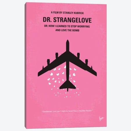 Dr. Strangelove Minimal Movie Poster Canvas Print #CKG40} by Chungkong Art Print