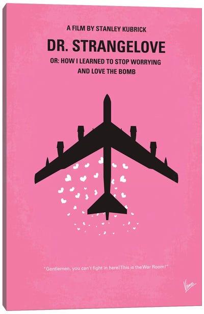 Dr. Strangelove Minimal Movie Poster Canvas Art Print