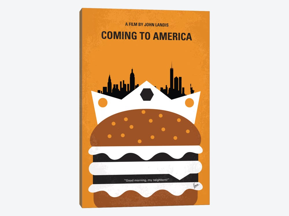 Coming To America Minimal Movie Poster by Chungkong 1-piece Art Print