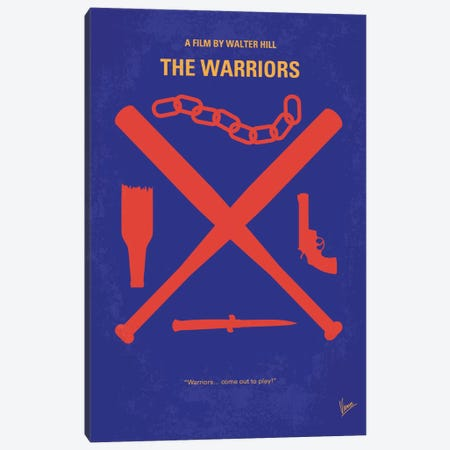 The Warriors Minimal Movie Poster Canvas Print #CKG411} by Chungkong Canvas Art