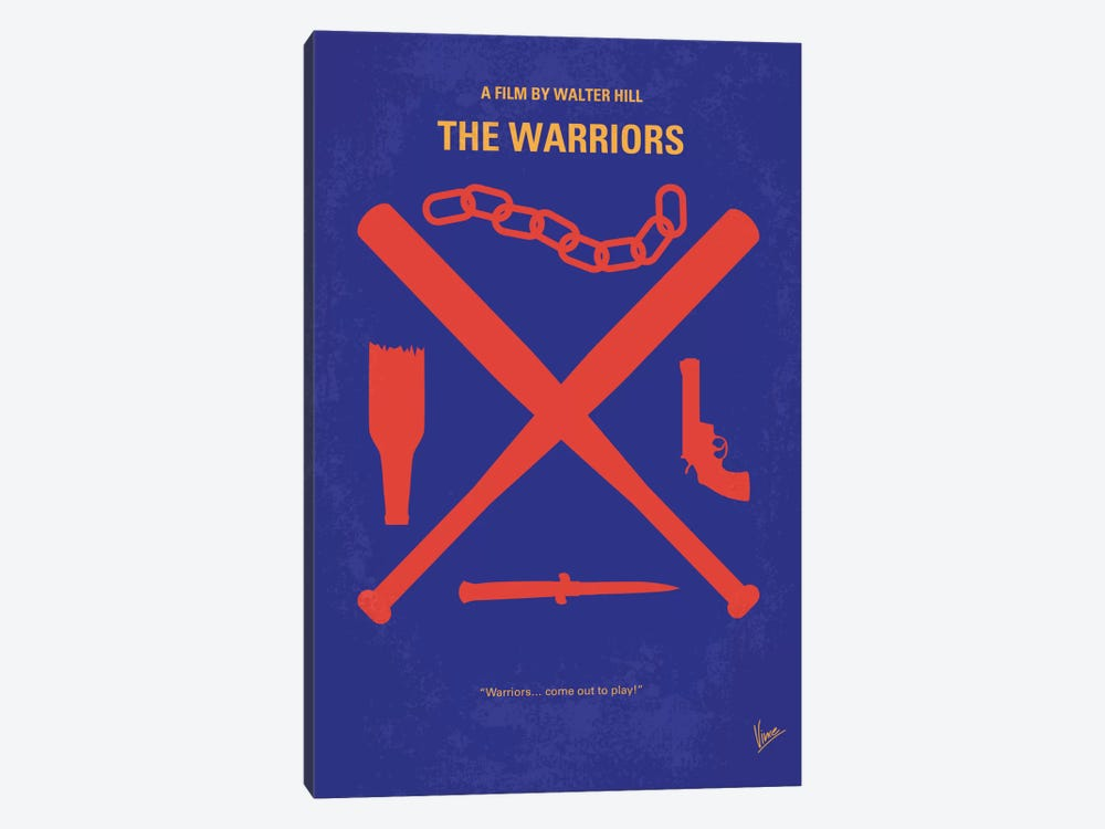 The Warriors Minimal Movie Poster by Chungkong 1-piece Canvas Wall Art