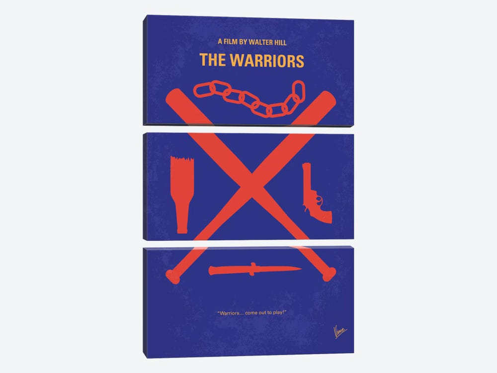 The Warriors Minimal Movie Poster by Chungkong 3-piece Canvas Art