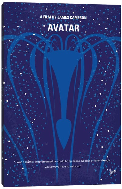 Avatar Minimal Movie Poster Canvas Art Print