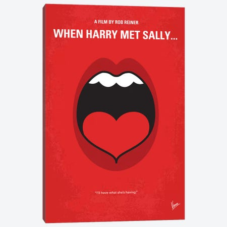 When Harry Met Sally Minimal Movie Poster Canvas Print #CKG413} by Chungkong Canvas Artwork