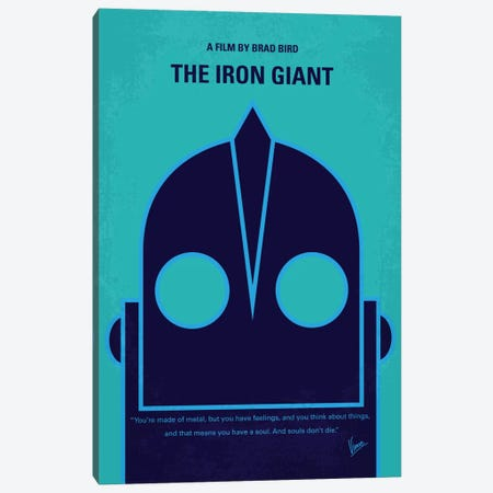 The Iron Giant Minimal Movie Poster Canvas Print #CKG414} by Chungkong Art Print