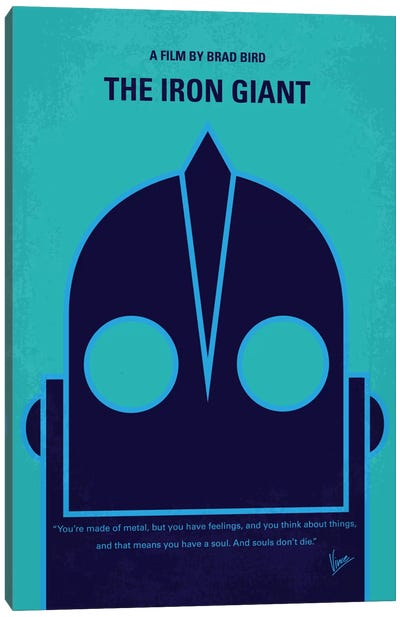 The Iron Giant Minimal Movie Poster Canvas Art Print