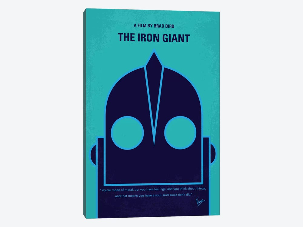 The Iron Giant Minimal Movie Poster by Chungkong 1-piece Canvas Print