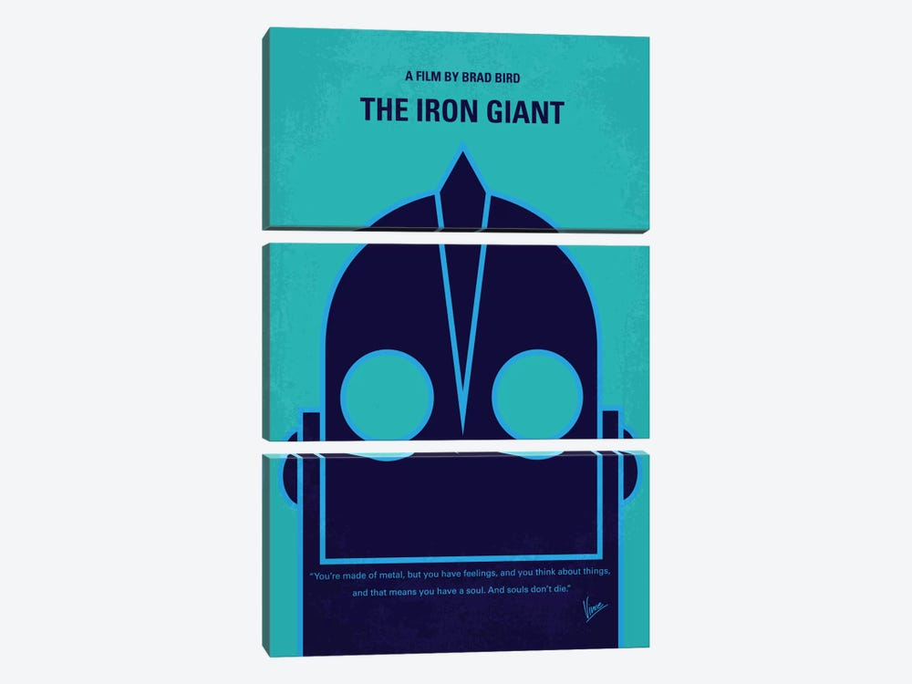 The Iron Giant Minimal Movie Poster by Chungkong 3-piece Art Print