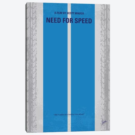 Need For Speed Minimal Movie Poster Canvas Print #CKG415} by Chungkong Canvas Print