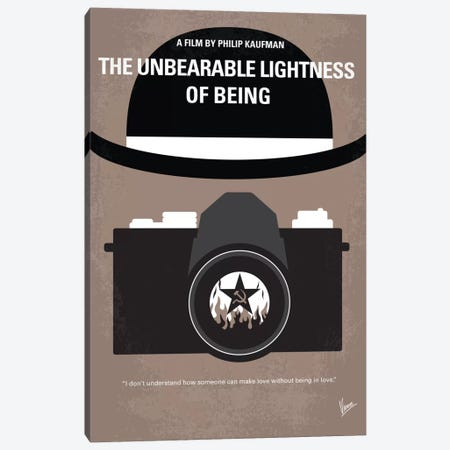The Unbearable Lightness Of Being Minimal Movie Poster Canvas Print #CKG416} by Chungkong Canvas Print
