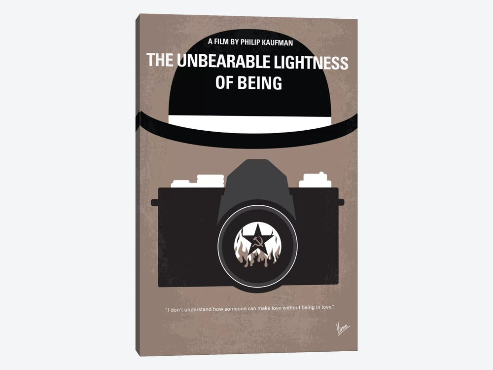 The Unbearable Lightness Of Being Minimal Movie Poster by Chungkong 1-piece Canvas Print