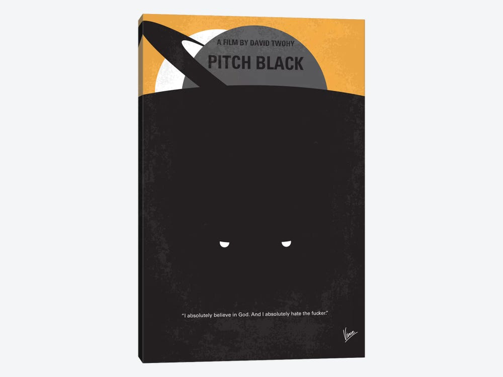 Pitch Black Minimal Movie Poster by Chungkong 1-piece Canvas Art