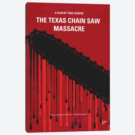 The Texas Chain Saw Massacre Minimal Movie Poster Canvas Print #CKG418} by Chungkong Canvas Art