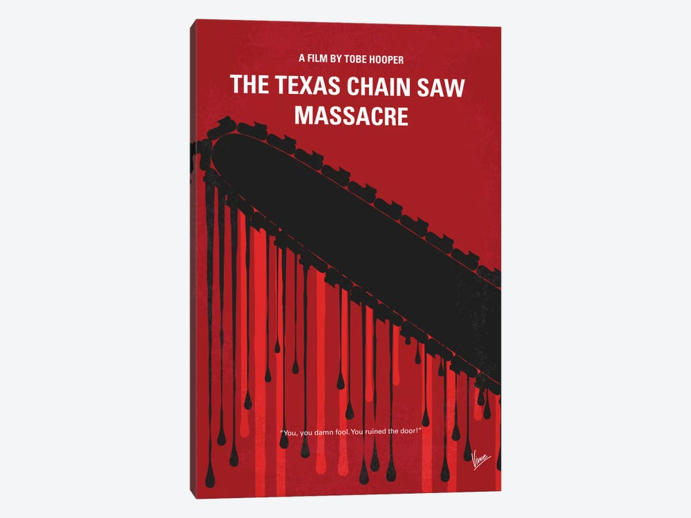 The Texas Chain Saw Massacre Minimal Movie Poster by Chungkong 1-piece Art Print