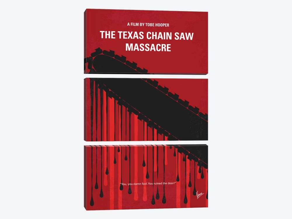The Texas Chain Saw Massacre Minimal Movie Poster by Chungkong 3-piece Canvas Print