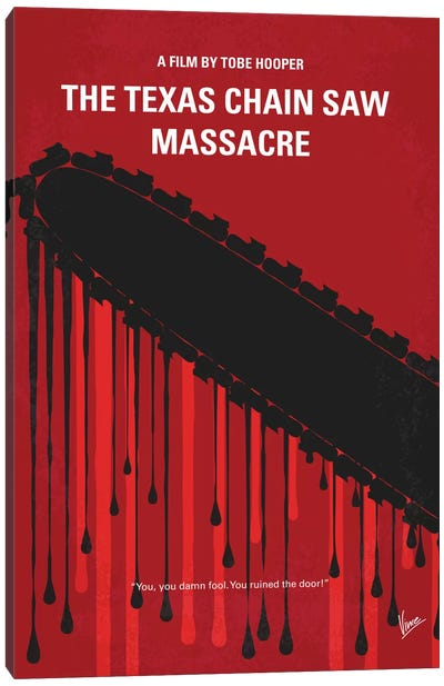 The Texas Chain Saw Massacre Minimal Movie Poster Canvas Art Print
